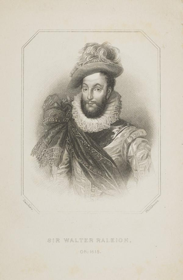 Sir Walter Raleigh, c 1552 - 1618. Naval commander (Published 1757)