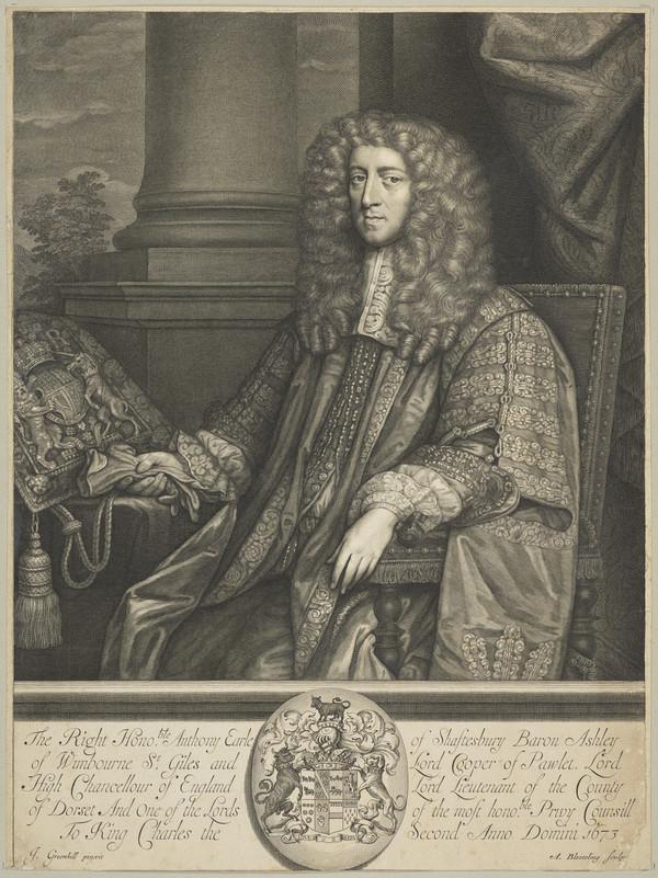 Anthony Ashley-Cooper, 1st Earl of Shaftesbury, 1621 - 1683. Statesman (1673)