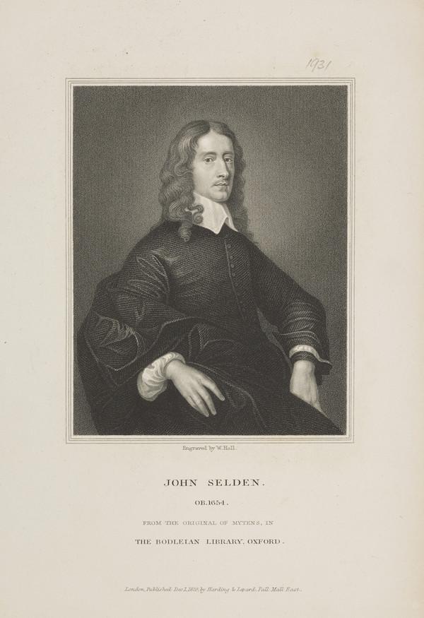 John Selden, 1584 - 1654. Jurist and antiquary (Published 1829)