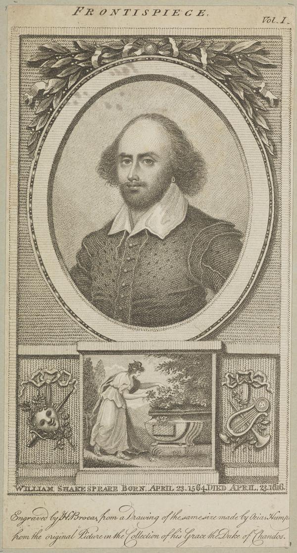 William Shakespeare, 1564 - 1616. Poet and dramatist