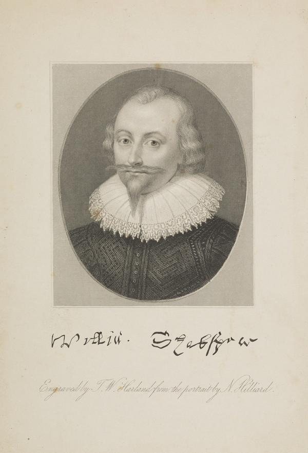William Shakespeare, 1564 - 1616. Poet and dramatist (Published 1840)