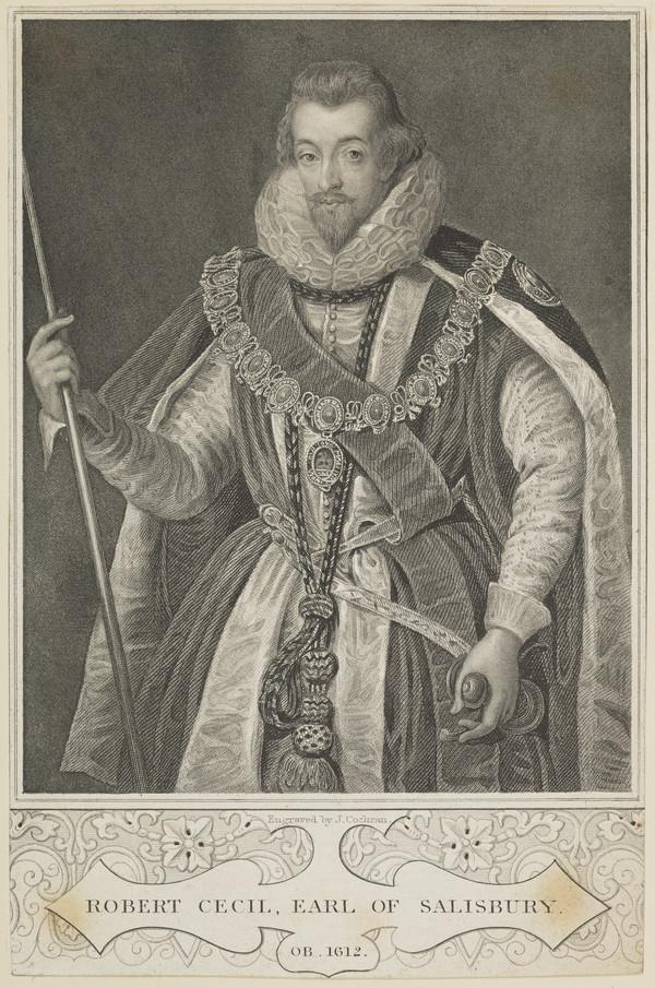 Robert Cecil, 1st Earl of Salisbury, c 1563 - 1612. Lord Treasurer