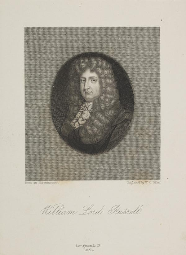 William Russell, Baron Russell, 1639 - 1683. 'The Patriot'; son of William, 1st Earl of Bedford (Published 1853)