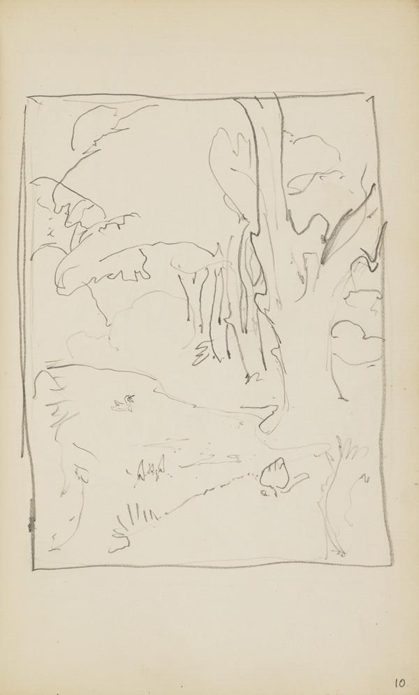 Slight Landscape Sketch (Verso: Another of the same view) (About 1890s)