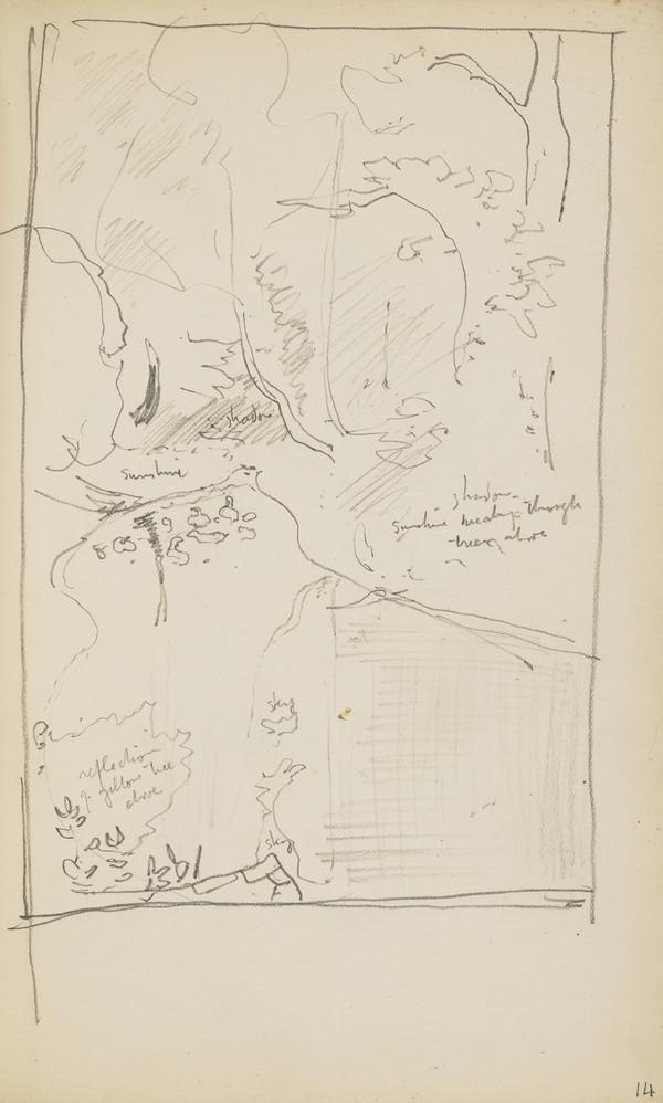 Slight Landscape Sketch (About 1890s)
