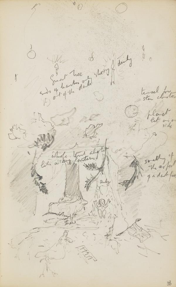Nativity Scene (Verso: A Similar Sketch) (About 1890s)