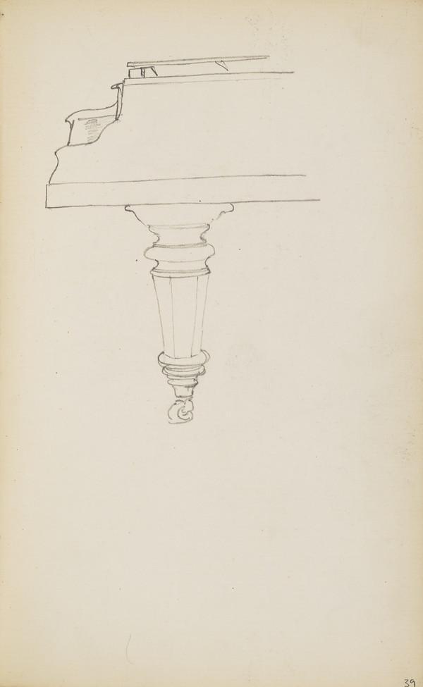 A Piano Leg (About 1890s)