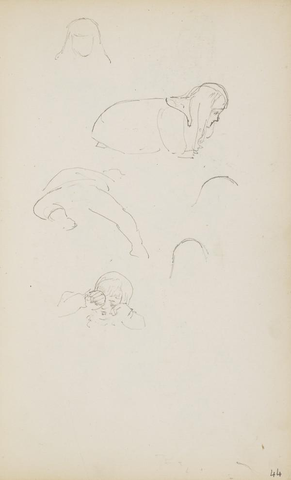 Sketches of Arthur Geddes (Verso: Norah and Alasdair Playing) (About 1890s)