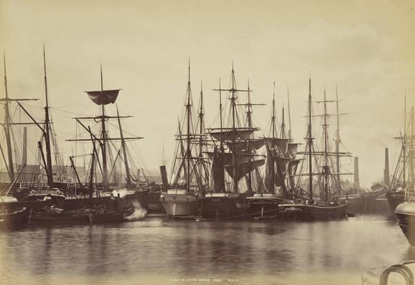 View in Leith Docks (1860s)
