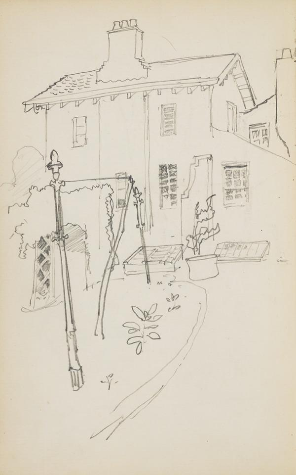 Blank page (Verso: Sketch of the Geddes House) (About 1890s)