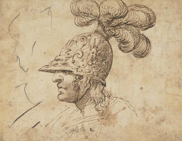 Head of a Helmeted Soldier