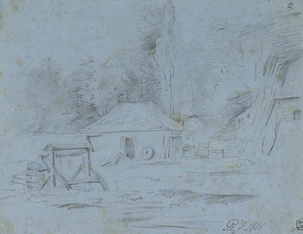 A Cottage and a Well (Dated 1805)