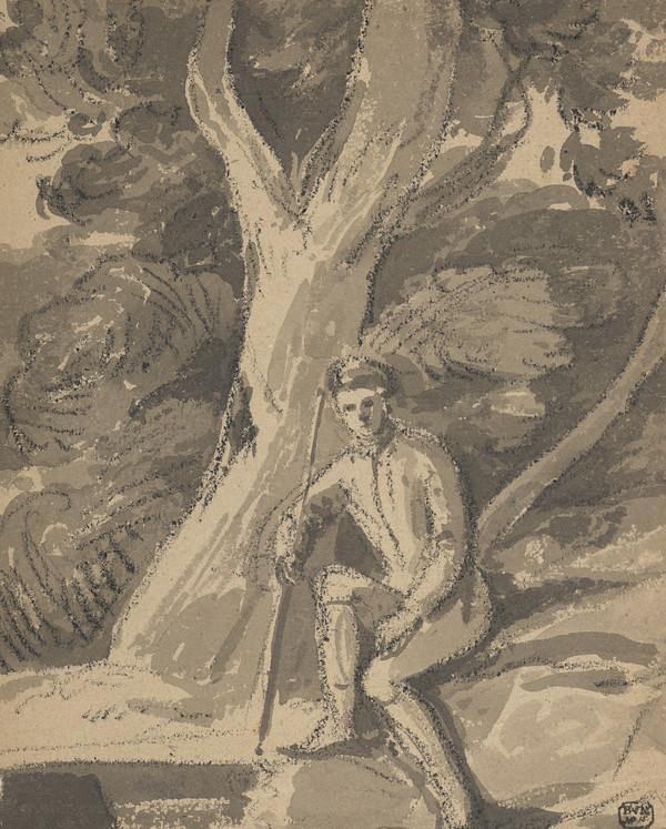 A Man Seated beneath a Tree (Dated 1805)