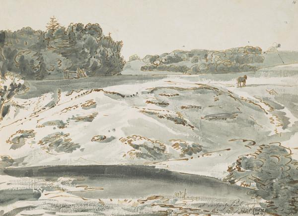 Eastwell Park, Kent [Verso: Watercolour Sketch] (Dated 1805)