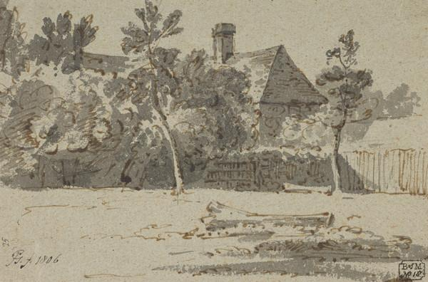 A House with Trees and a Fence (Dated 1806)