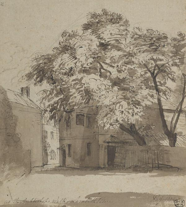 Archbishop's Walk, Lambeth (Dated 1804)