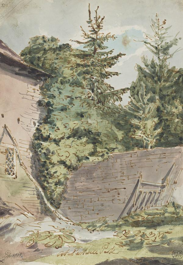 View at Eastwell Park, Kent (Dated 1805)