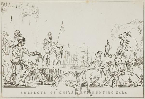 Frontispiece to Subjects of Chivalry Hunting & c. & c. (1837)