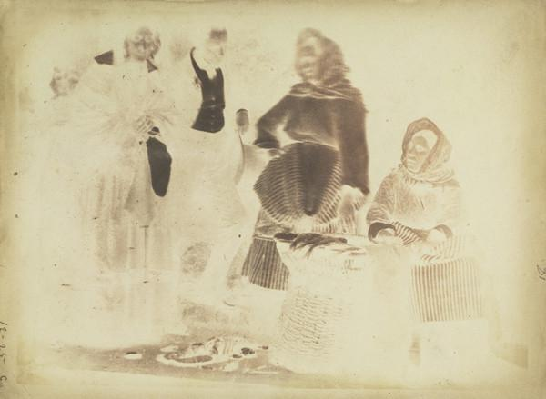 Rev. Mr and Mrs Fairbairn and two fishwives [Newhaven] (1843 - 1847)