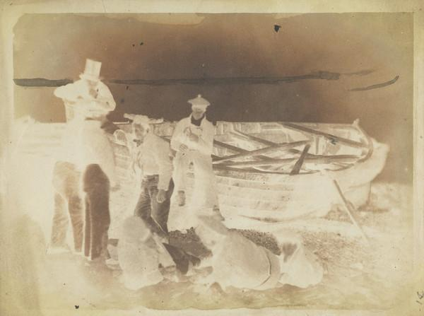 Unknown men and boat [Newhaven] (1843 - 1847)