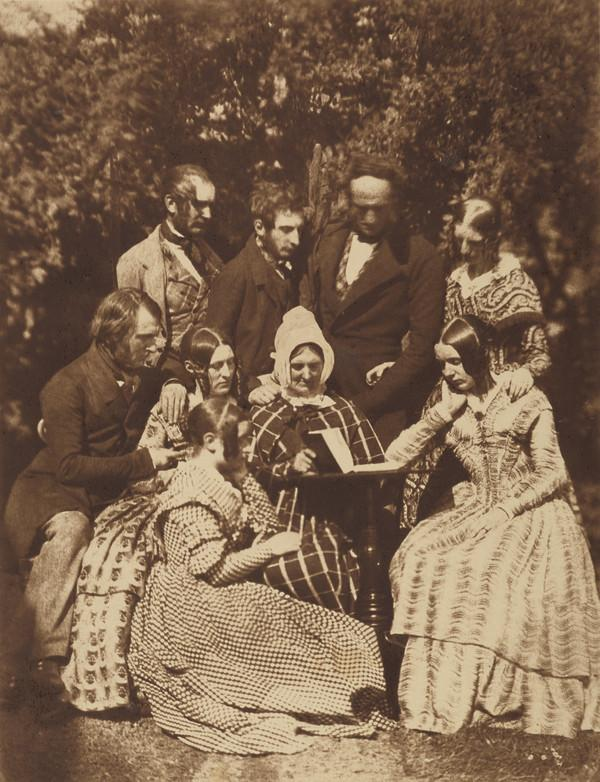 The Adamson family: standing, Alexander and Robert Adamson, Colonel and Mrs Bell; seated, John Adamson, Miss Melville, perhaps Mrs Alexander... (1843 - 1847)