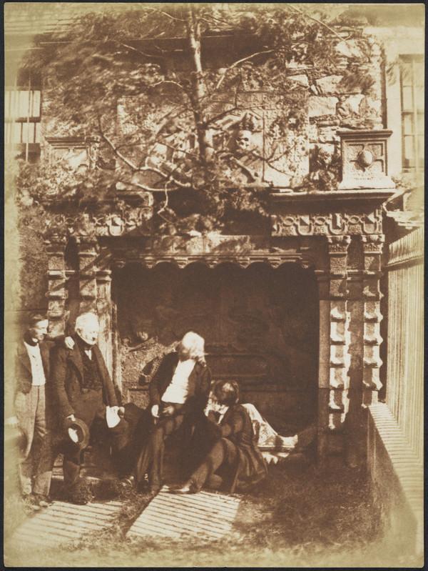 Greyfriars' Churchyard, the Naismith monument with two unknown men, John Henning and David Octavius Hill [Edinburgh 51] (1843 - 1847)