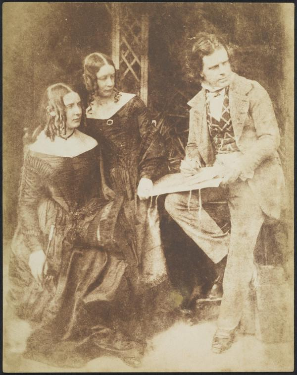 Miss Patricia and Miss Isabella Morris and David Octavius Hill [Group 203] (1843 - 1847)
