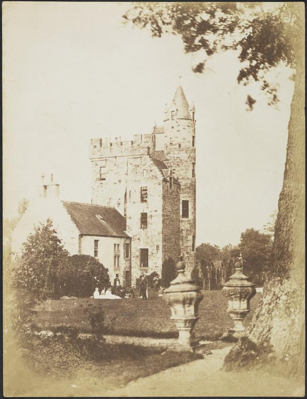 Bonaly Towers. The group includes John Henning [Landcape 2] (1843 - 1847)
