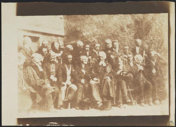 Edinburgh Presbytery.  Seated, Robert Rev. Dr Patrick Clason, Alexander Earle Monteith, Robert Cunningham Graham Speirs, Rev. Dr George Muirhead,... (1843 - 1847)
