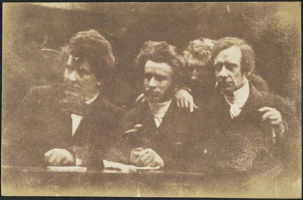 Rev. Dr William Cunningham, Rev. Dr James Begg, John Hamilton and Rev. Dr Thomas Guthrie [Group 207 cut down] (1843 - 1847)
