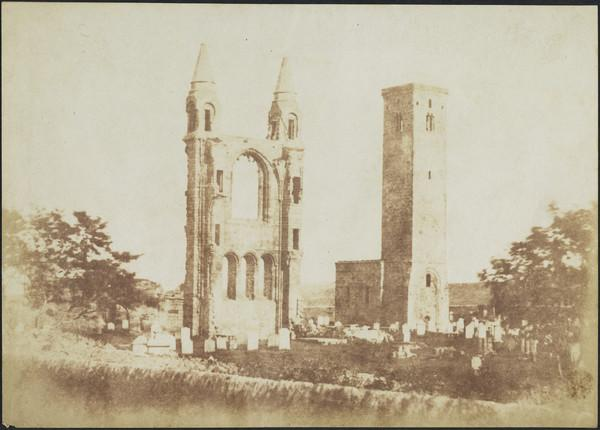 St. Andrews Cathedral, east gable & St. Rule's Tower [St Andrews 16] (1843 - 1847)