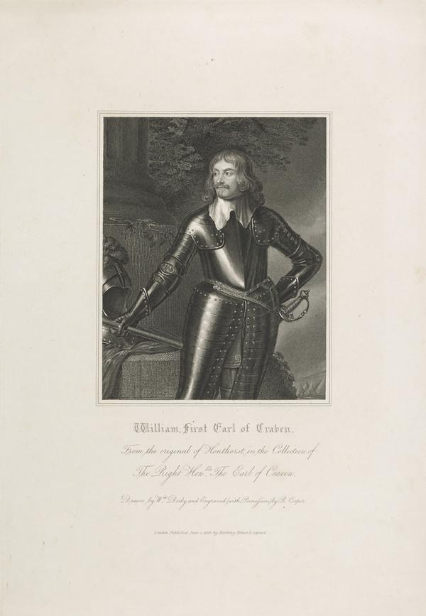 William Craven, 1st Earl of Craven, 1606 - 1697. Royalist; friend of Elizabeth, Queen of Bohemia (Published 1824)
