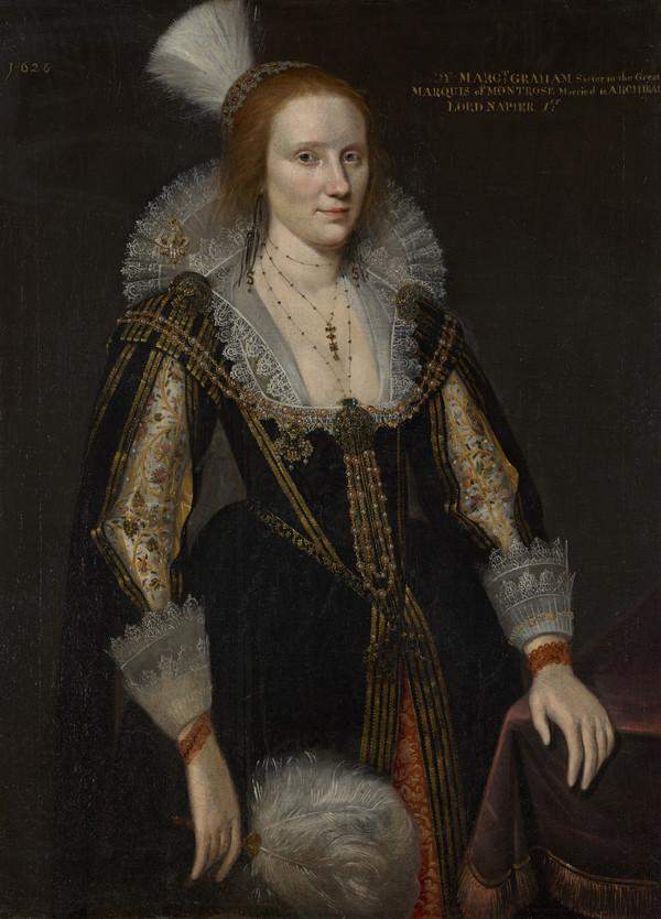 Margaret Graham, Lady Napier, d. c 1626. Sister of 1st Marquess of Montrose and wife of 1st Lord Napier (1626)
