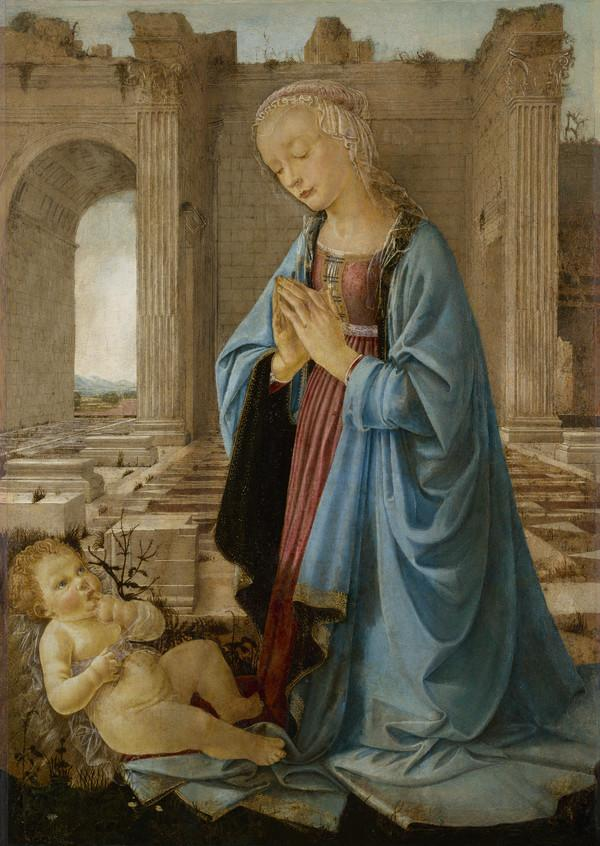 The Virgin Adoring the Christ Child ('The Ruskin Madonna') (About 1470)