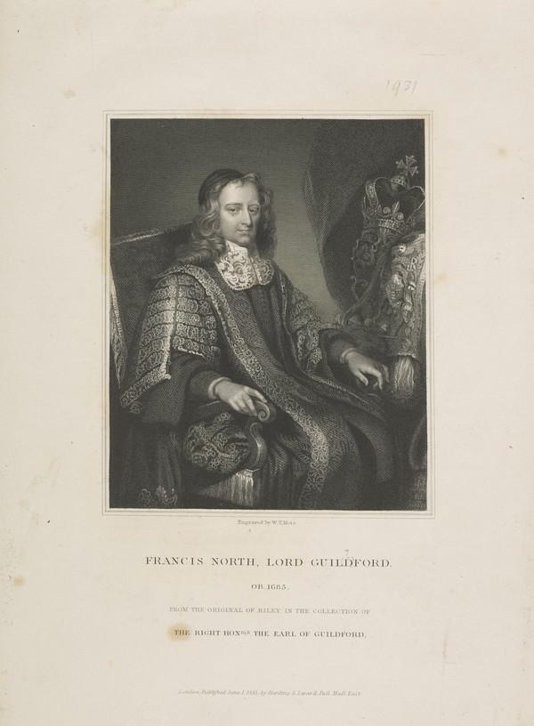 Francis North, 1st Baron Guildford, 1637 - 1685. Lord Keeper