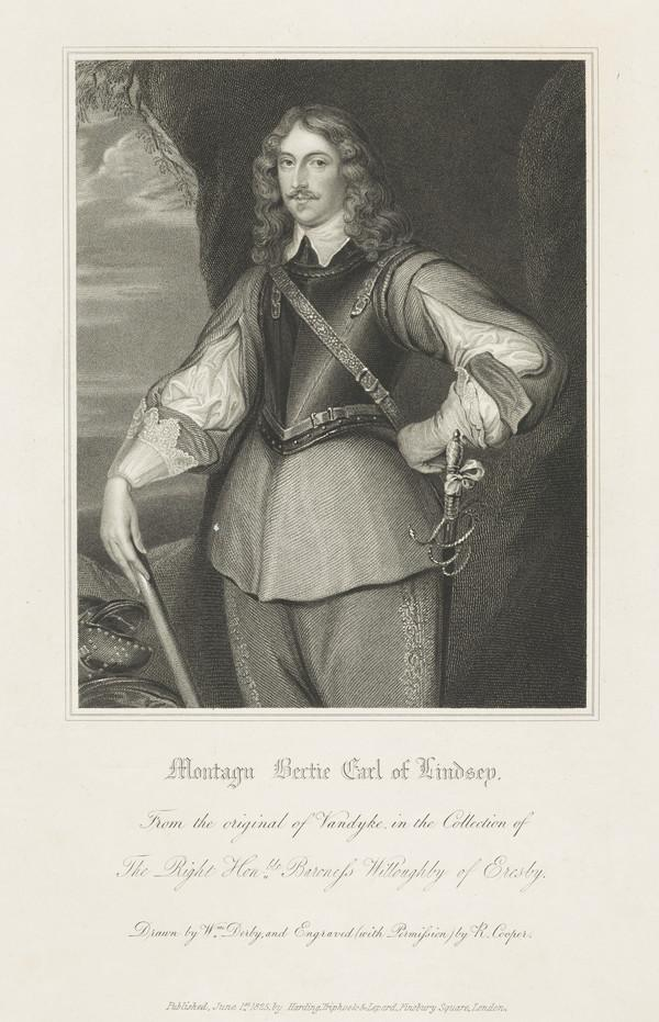 Montague Bertie, 2nd Earl of Lindsey, c 1608 - 1666 (Published 1825)