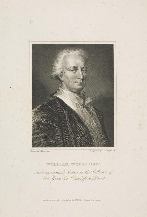 William Wycherley, c 1640 - 1716. Dramatist