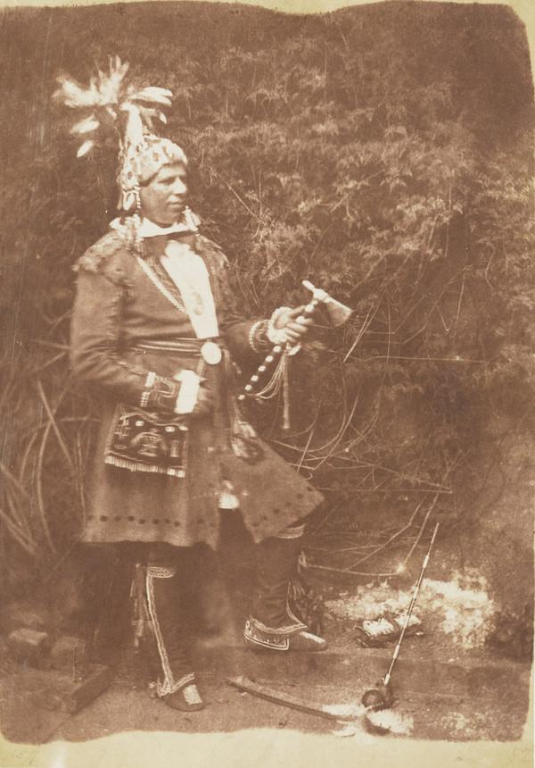 Rev. Peter Jones or Kahkewaquonaby, 1802 - 1856. Indian chief and missionary in Canada [a] (1843 - 1847)