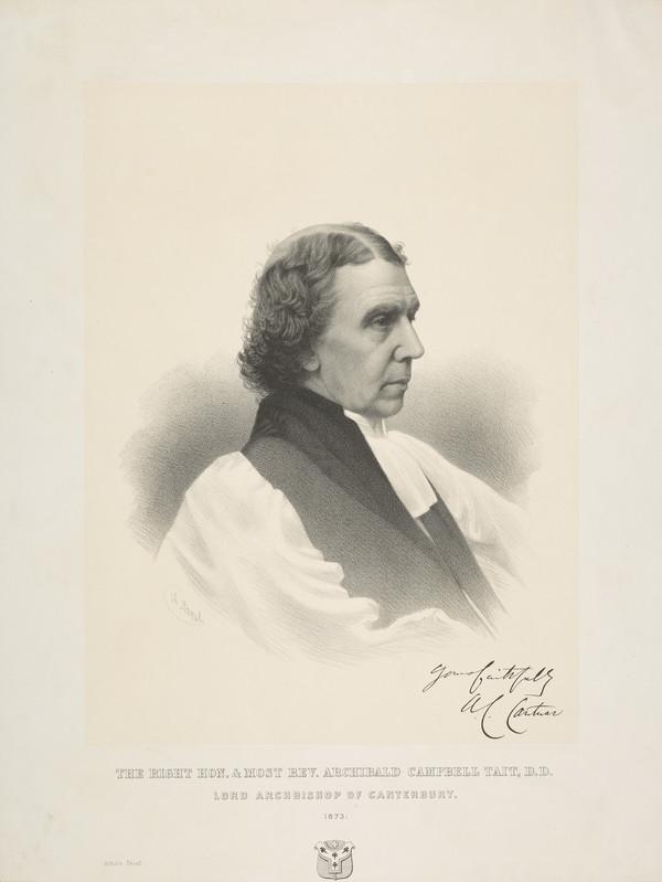 Archibald Campbell Tait, 1811 - 1882. Archbishop of Canterbury