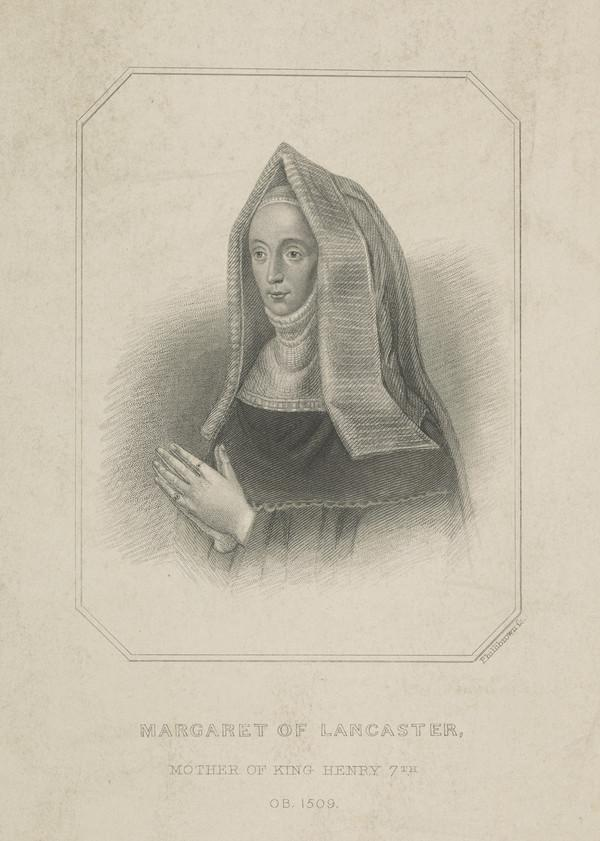 Margaret Beaufort, Countess of Richmond, 1443 - 1509. Wife of Edmund Tudor, afterwards Countess of Derby; daughter of John, 1st Duke of Somerset;...