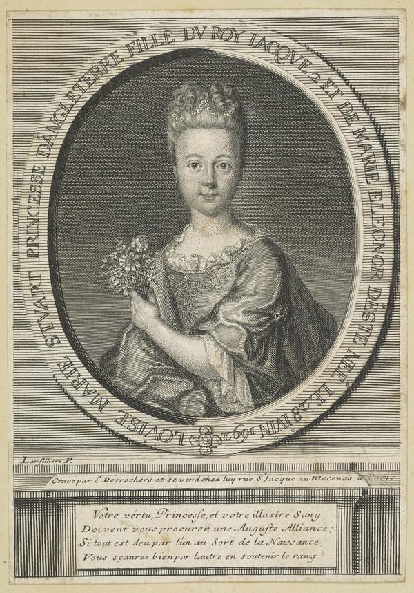 Princess Louisa Maria Teresa Stuart, 1692 - 1712. Daughter of James VII and II