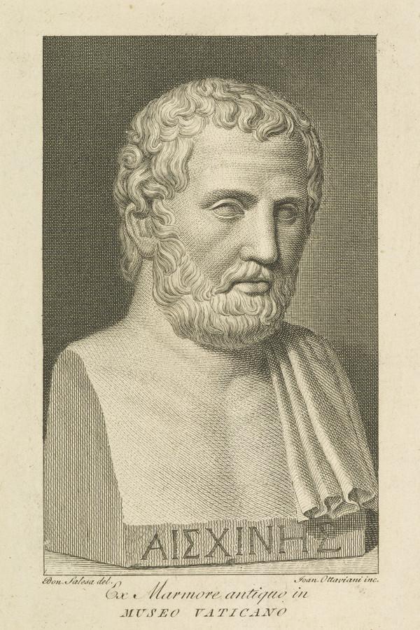 Aeschines, 389 - 314 BC. Athenian philosopher