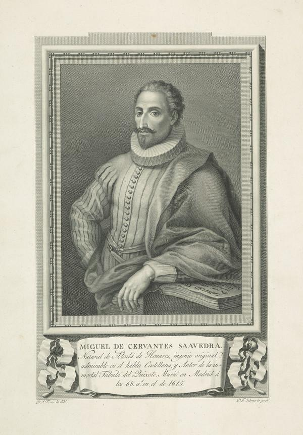 Miguel de Cervantes-Saavedra, 1547 - 1616. Author of Don Quixote