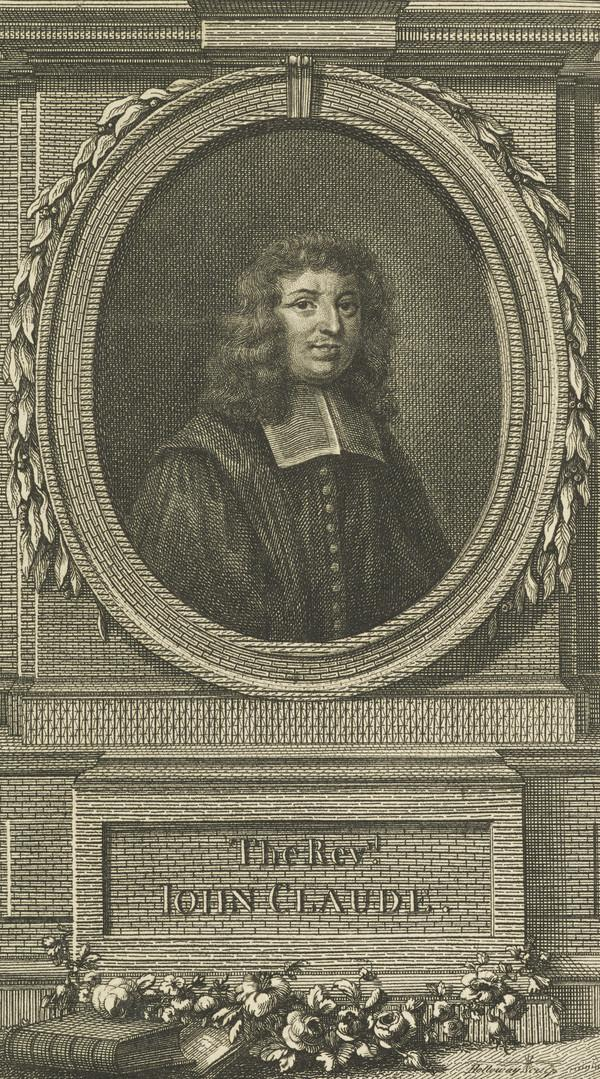 Rev. John Claude, 1619 - 1687. French Protestant theologian