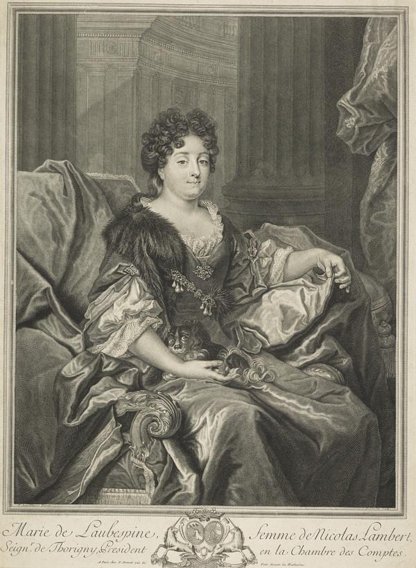 Marie de Lambespine, Madame Lambert, d. 1677. Wife of Lambert de Thorigny