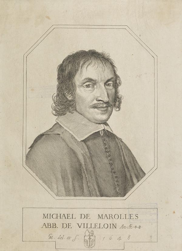 Michael de Marolles, 1600 - 1681. Abbe de Villeloin; French writer