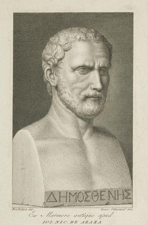 Demosthenes, c 383 - 322 BC