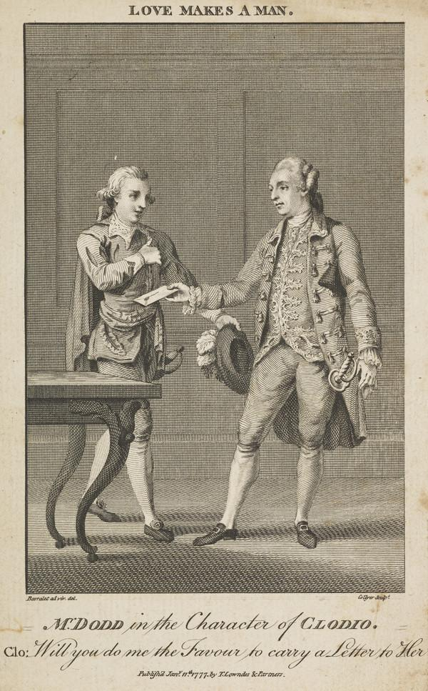 Mr Dodd in the character of Clodio