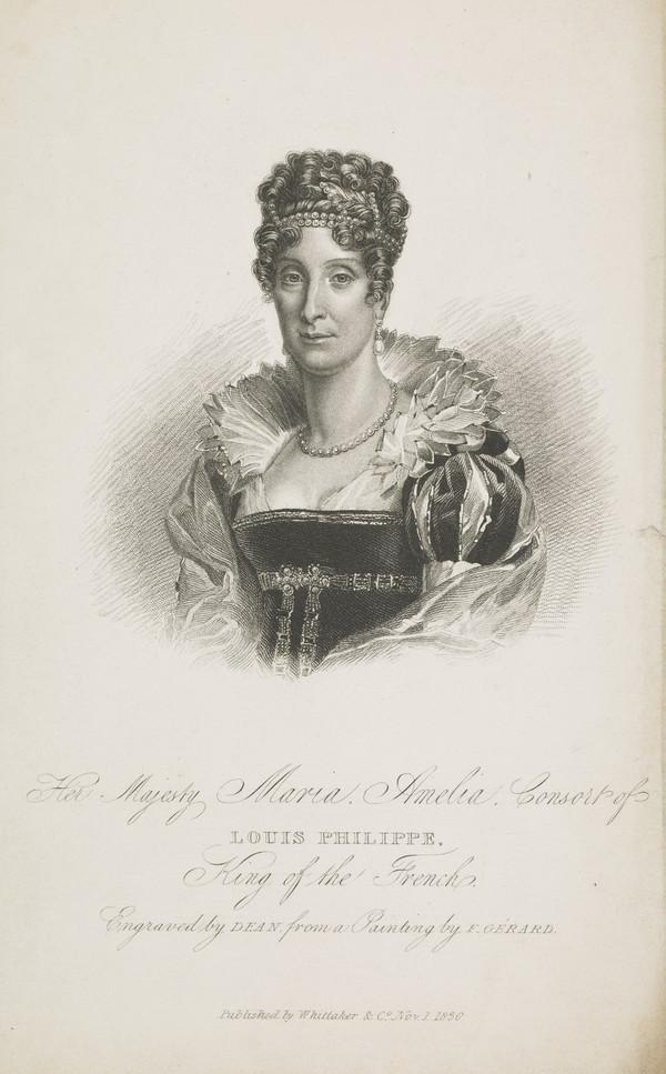 Maria Amalia of Naples and Sicily ,1782 - 1866. Queen consort of Louis Phillipe, King of France