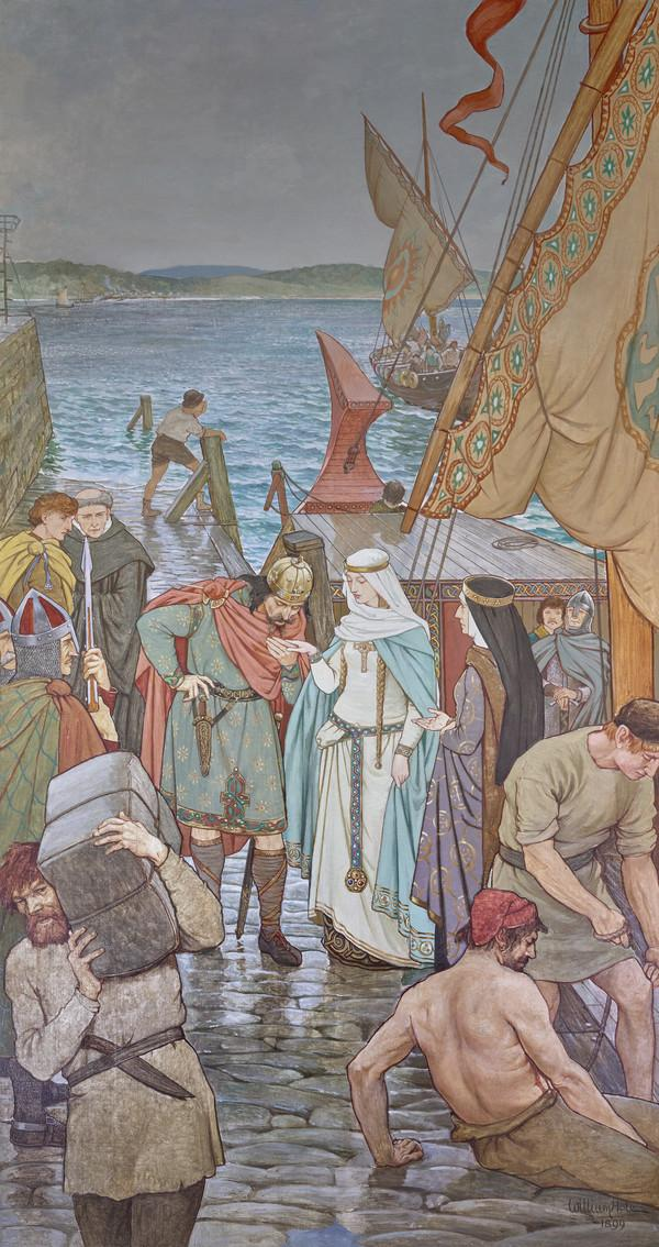 The Landing of St Margaret at Queensferry A.D. 1068